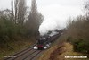 170128-015  LMS Stanier 'black five', 5MT 4-6-0 No 45305 thunders past Charnwood with the 09:45 Loughborough - Leicester North.