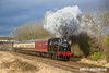170128-059  LMS Jinty 3F 0-6-0T No 47406 passes Woodthorpe in dramatic fashion, powering the 13:30 Loughborough - Quorn.