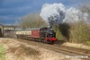 170128-058  LMS Jinty 3F 0-6-0T No 47406 passes Woodthorpe in dramatic fashion, powering the 13:30 Loughborough - Quorn.