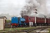 170429-045  In dramatic style, Peckett 0-4-0St No 2111 Lytham St. Annes pulls away from Swanwick Junction with the Vintage Trains stock,