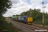 170816-001  Direct Rail Services class 37/4 No 37425 Sir Robert McAlpine, with saloon No 975025 Caroline, captured passing the former Clipstone sidings on the LDECR, which is now just a branch from Shirebrook to High Marnham. Seen heading to Thoresby where it reversed with 2Z02, 08:35 York - York.
