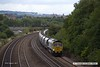 170824-033  Freightliner class 66/5 No 66562 passing Hasland with 4Z12, 12:07 York Yard South - Portbury Coal Terminal, empty coal hoppers.