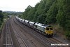 170824-034  Freightliner class 66/5 No 66562 passing Hasland with 4Z12, 12:07 York Yard South - Portbury Coal Terminal, empty coal hoppers.