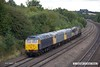 170824-029  Rail Operations Group class 47 No 47812 is captured passing Hasland on a test run, top & tail with 47848 & with three class 56's sandwiched in between, No's 56301, 56081 & 56104. Seen reurning to Leicester as 0M59, 12:45 Barrow Hill L.I.P. - Leicester L.I.P.