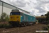 170818-006  DCR operated class 50 No 50008 Thunderer is captured passing Sutton in Ashfield, running as 0Z01, 15:00 Thoresby Colliery Junction - Derby RTC. It was intended to take  Loram Corrective Rail Grinder CRG2 (DR79401 - 404) from Tuxford but the loco ran 'light' instead.
