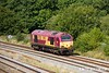 170824-040  DB Cargo class 67 No 67030 passes Clay Cross with route learner 0Z21, 14:10 Peak Forest - Toton T.M.D..