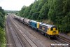 170824-021  Seen passing Hasland are HNRC orange 20314 & 20311 top & tail with 20096 & 20905 hauling the barrier wagons used on the LUL stock moves, running as 6Z10, 12:23 Derby Litchurch Lane - Barrow Hill L.I.P.