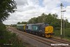 170816-003  Direct Rail Services class 37/4 No 37425 Sir Robert McAlpine, with saloon No 975025 Caroline, captured passing the former Clipstone sidings on the LDECR, which is now just a branch from Shirebrook to High Marnham. Seen heading to Thoresby where it reversed with 2Z02, 08:35 York - York.