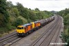 170824-020  Seen passing Hasland are HNRC orange 20314 & 20311 top & tail with 20096 & 20905 hauling the barrier wagons used on the LUL stock moves, running as 6Z10, 12:23 Derby Litchurch Lane - Barrow Hill L.I.P.