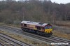171216-013  DB Cargo class 66/0 No. 66088 is seen passing Clay Cross, running 'light' as 0D12, 12:37 Peak Forest up sidings - Toton TMD.
