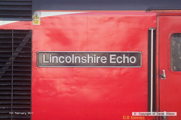 170207-043  Nameplate of Virgin East Coast HST power car, class 43 No 43308 Lincolnshire Echo
