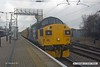 170207-018  Class 37 No 37025 Inverness TMD passes through platform 3 at Newark North Gate, leading test train 1Q23, 10:54 Doncaster West Yard - Leeds Neville Hill T.&R.S.M.D. At the rear was 37254.