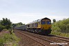 170718-001  GB Railfreight class 66/7 No 66705 Golden Jubilee is seen passing Sutton-in-Ashfield with 6E89, 10:20 Wellingborough up TC - Rylestone.