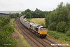 170710-004  On Monday 10th July 2017  GB Railfreight class 66/7 No 66752 The Housier State was captured passing Sutton-In-Ashfield on the Robin Hood Line, powering train 6E89, 10:20 Wellingborough up TC - Rylestone empty ERMEWA JNA wagons. This was off it's normal route and made a very welcome surprise.