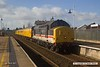 170306-001  Intercity swallow livery class 37 No 37254, top & tail with 37219 is captured passing through Mansfield with PLPR test train 1Q64, 08:53 Derby RTC - Leeds, Neville Hill T.&R.S.M.D.