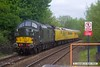 170501-006  Colas Rail Freight class 37's No's 37099 & 37057 top & tail test train 1Q64, 08:53 Derby RTC - Doncaster West yard, captured passing through Mansfield Woodhouse on the Robin Hood Line.