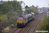 171103-007  Rail Head Treatment Train 3J88, (23:07) Toton TMD - Toton TMD is captured passing Tenter Lane, Mansfield. This is usually the domain of a pair of DB Cargo class 66's, but for a change a pair of class 67's were used. Leading is blue livery 67002, whilst at the rear is 67022.