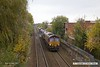 171028-009  DB Cargo class 66's 66104 & 66151 in top & tail mode are captured passing Princes Street footbridge, Mansfield, with RHTT 3J88, (23:07) Toton TMD - Toton TMD.