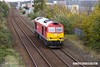 171025-008  DB Cargo class 60 No 60054 passes through Mansfield, running 'light' as 0F54, 12:10 Doncaster Belmont Down Yard - Toton TMD.