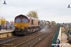 171028-006  DB Cargo class 66's 66151 & 66104 in top & tail mode are captured passing through Mansfield, with RHTT 3J88, (23:07) Toton TMD - Toton TMD.