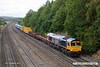 170915-006  GB Railfreight class 66/7 No 66729 Derby County passing Hasland with 6M73, 10:52 Doncaster up Decoy - Toton North Yard. In the consist is a rake of RHTT tanks for the forthcoming leaf fall season.