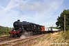 180811-007  LMS 8F 2-8-0 No. 48624 in the guise of 48476 is seen dragging the mineral wagons out of Swithland sidings.