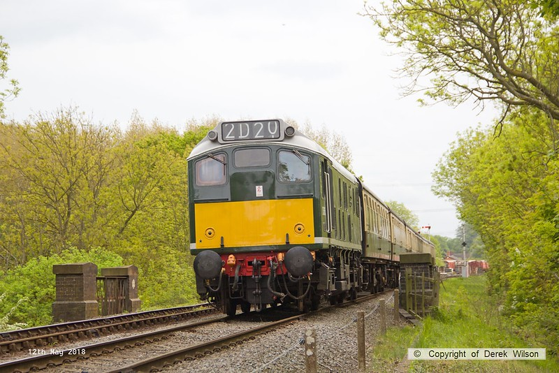 180512-039  BR type 2, class 25 No. D5185 is captured  at Swithland with 2D20, the 12:43 Rothley Brook - Loughborough.
