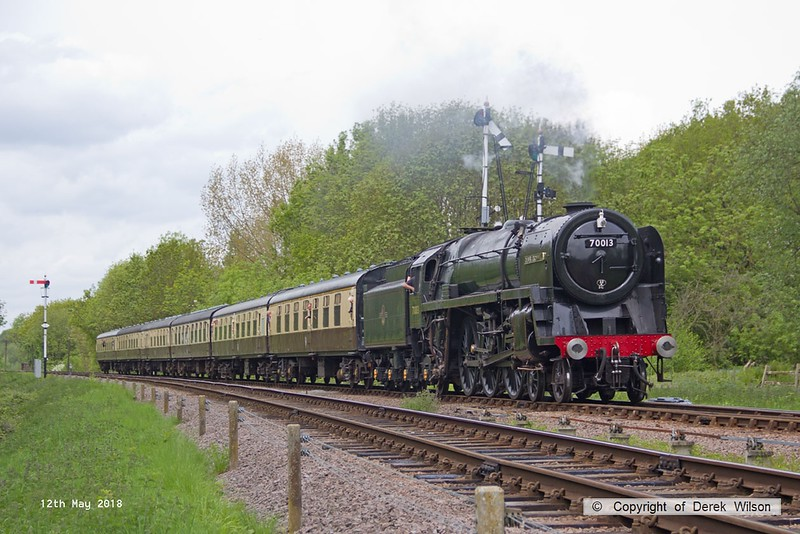 180512-038  BR Britannia 4-6-2 No. 70013 Oliver Cromwell passes Swithland with 2C20, the 12:15 Loughborough - Rothley Brook.