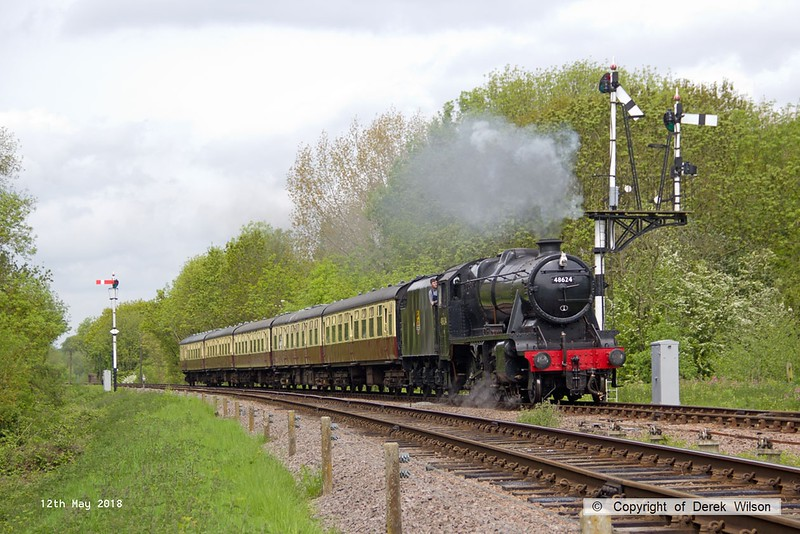 180512-029  LMS Stanier 8F 2-8-0 No. 48624 passing Swithland with 2A17, the 11:30 Loughborough - Leicester North.