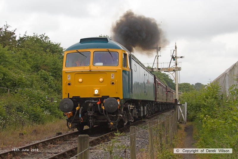 180616-069  Brush type 4, class 47 No. 47401 North Eastern heading towards Butterley with the 11:20 Swanwick - Hammersmith.
