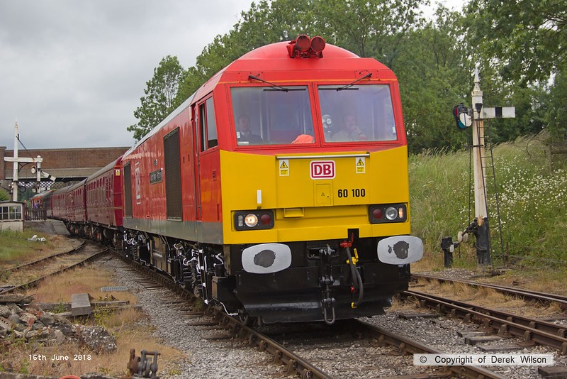 180616-080  DB Cargo class 60 No. 60100 Midland Railway - Butterley is captured passing Butterley with the 12:14 Hammersmith - Riddings.