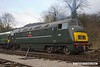 180317-012  BR 'Warship', class 42 No. D832 Onslaught fired up ready for action, seen in the yard at Wirksworth.