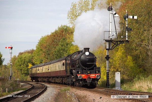181007-052  LNER B1 4-6-0 No. 1264 (BR 61264) running in the guise of 1251 Oliver Bury is captured at Swithland with 2A16, the 12:00 Loughborough - Leicester North.