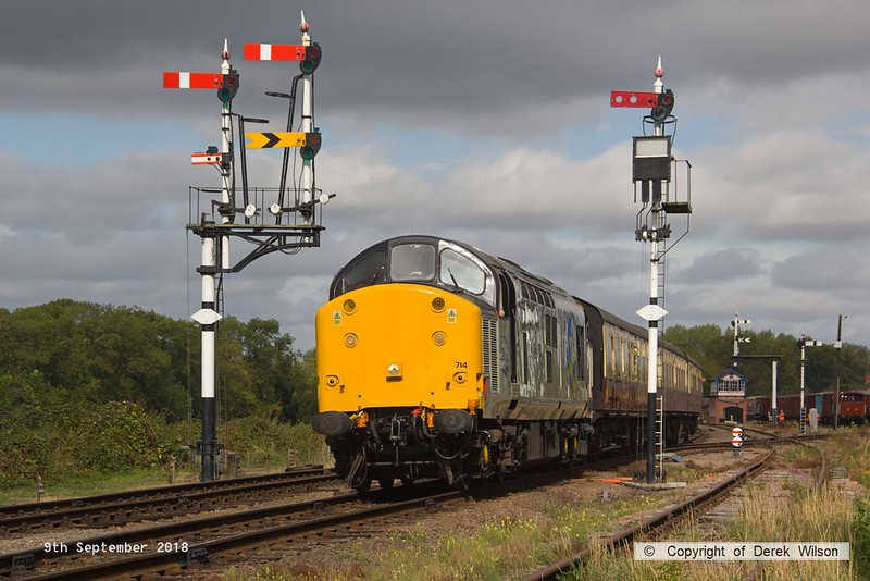 180909-020  Class 37 No. 37714 Cardiff Canton  passing Swithland with 2C09, the 10:50 Loughborough - Rothley Brook.