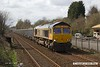180416-001  GB Railfreight class 66/7 No. 66717 Good old Boy, seen passing Tenter Lane, Mansfield, powering 6E89, 10:20 Wellingbborough - Rylstone empty aggregates boxes.