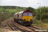 180820-006  DB Cargo class 66/0 No. 66037 is seen arriving at Shirebrook with 4Z18, 13:15 Toton North Yard - Shirebrook, W.H. Davis. In tow are four HTA hoppers for cut & shut mods.