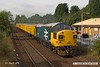 180806-006  Colas operated class 37 No. 37025 Inverness TMD is captured passing Tenter Lane, Mansfield, powering test train 3Q10, 08:07 Derby RTC - High Marnham.