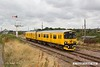 180817-003  Network Rail class 950 test unit No. 950001 pulls away from Thoresby Colliery Junction with 2Q08, 07:55 Burton Wetmore Sidings - Burton Wetmore Sidings.