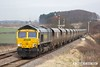 180208-028  Freightliner class 66/5 No. 66568 is captured passing the former Clipstone West Junction, powering train 4Z41, 15:13 Thoresby Colliery Junction - Carlisle North Yard. The Lancashire Derbyshire & East Coast Railway was primarily built for the lucrative coal traffic which is now no more. A sad day, and probably the last time that coal wagons will be seen on the line.