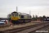 180208-002  Freightliner class 66/5 No. 66568 arriving at Thoresby, running as 0Z40, 06:17 Leeds Balm Road - Thoresby Colliery Junction.
