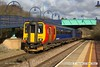 180220-002  East Midlands Trains class 156 unit No. 156415 pulling away from Whitwell with 2W12, the 12:26 Nottingham - Worksop.