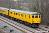 180226-002  DBSO NO. 9703 is seen leading test train 3Z10, 08:12 Derby RTC - High Marnham, (VSTP via Erawash line, Sheffield, Woodouse Jn. & Woodend Jn.). Captured nearing Boughton Junction on the High Marnham Test Track, Network Rail class 97 No. 97301 was powering from the rear.