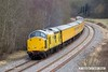 180226-016  Network Rail class 97 No. 97301 is captured near Boughton Junction on the High Marnham Test Track, powering a test train which is visiting the test track for callibrating.