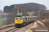 180208-025  Freightliner class 66/5 No. 66568 is captured passing the former Clipstone West Junction, powering train 4Z41, 15:13 Thoresby Colliery Junction - Carlisle North Yard. The Lancashire Derbyshire & East Coast Railway was primarily built for the lucrative coal traffic which is now no more. A sad day, and probably the last time that coal wagons will be seen on the line.