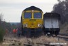 180208-017  Freightliner class 66/5 No. 66568 at the head of 16 coal hoppers which are to be taken from Thoresby to Woodhouse Junction Sidings. It is planned to lift the siding during what is left of the current financial year.