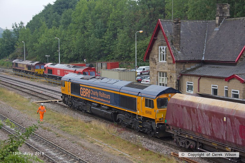 180713-078  GB Railfreight class 66/7 No. 66782 is seen arriving at it's destination with train 4M11, 09:43 Washwood Heath - Peak Forest.