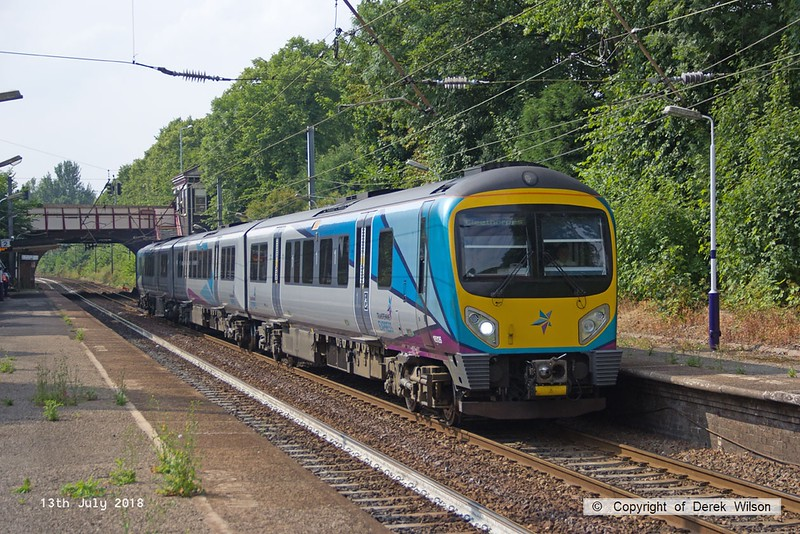 180713-119  TransPennine Express class 185 unit No. 185126 is seen passing through Davenport, Stockport, with 1B84, the 15:53 Manchester Airport - Cleethorpes.