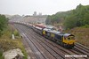 180713-003  GB Railfreight class 66/7 No. 66701 is seen forming train 6J46,  08:39 Peak Forest, Cemex - Hope St Peakstone P. Sidings.
