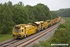 180601-013  Plasser & Theurer RM 900 RT Ballast Cleaner, seen at the rear of the consist being taken to Tuxford by 66597.