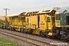 180601-019  Plasser & Theurer PW-RT Materials Handling Train Power Wagon No. DR92431, seen in the consist of 6Y38, 03:59 Fairwater yard, Taunton - Thoresby Colliery Junction.